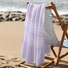 2017 New 100% Cotton Turkish Bath Towel for Adult Striped Beach Towel toalla playa Plain Towels 75*140cm(China)