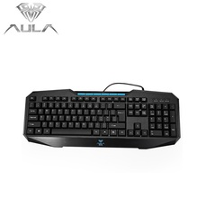 AULA USB Wired Gaming Keyboard 104 keys NO Backlight Multimedia Ergonomic keyboard Computer Peripherals for Home Office Gamer