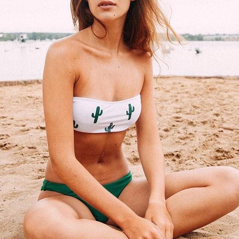 Push up swimsuit Print micro bikini 9