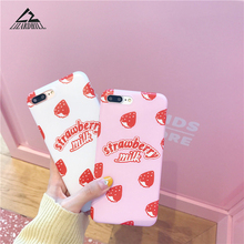 Buy Lizardhill Lovely Fruit Strawberry milk Soft TPU Phone Cases iphone 7 Case fundas iphone 6 6S 7 8 Plus Coque Back Cover for $2.91 in AliExpress store