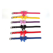 Lovely Pets Adjustable  PU Leather Puppy Pet Dog Collar Necklace Cat Collars hot selling new arrival cool small dogs collar