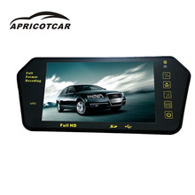 7'TFT LCD Bluetooth car rear view parking mirror monitor + infrared wireless reverse car HD night vision reversing camera new