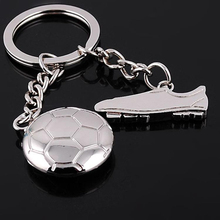 (12 pieces/lot)New Key Ring Llavero World Cup Soccer Shoes Football Keychain Nice Party Gift for Football Fans Free Shipping(China)