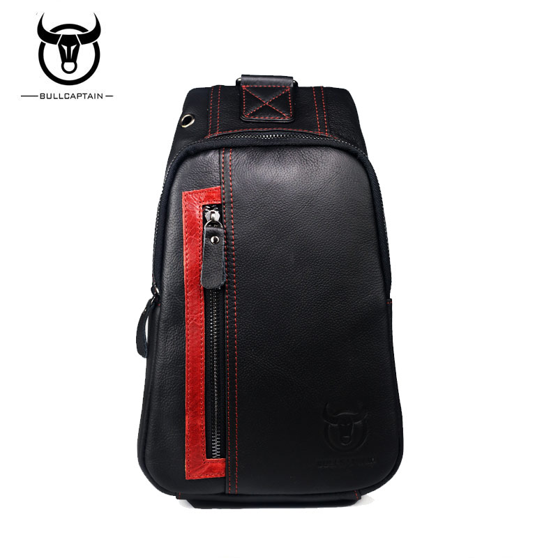 BULL CAPTAIN 2017 Brand Small casual Male Shoulder Bags Fashion Genuine Leather men Crossbody Bags sling chest messenger bag 082<br>