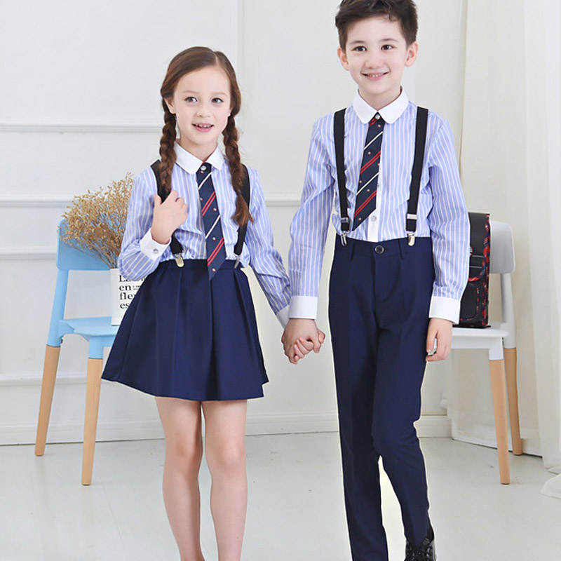 Boys Girls Long Sleeves Shirt Clothing Set Children Formal Clothes Kids Wedding prom Clothes School costumes Moderator Clothing<br>