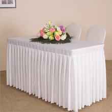Custom Rectangle Conference Table Cover Sing Table Skirts Event Party Tablecloth Booth Setting Cloth Multi-Usage Table Cloth