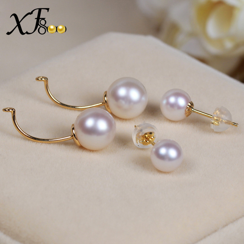 XF800-Natural-AKOYA-SEA-Pearl-Earrings-8-5-9mm-Big-Size-Double-Side-Earrings-Real-18K (4)