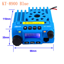 qyt kt-8900 mobile radio transceiver kt8900 mini car bus army mobile vhf two way radio station UHF VHF 136-174/400-480MHz BLUE