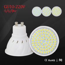 LED Light LED Bulb SMD 2835 GU10 Spotlight 220v 230v led bulb 4w 6w 8w lighting chandelier bright lampara indoor lights