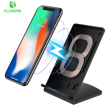 FLOVEME Qi Wireless Charger For Samsung S8/S8 Plus Fast Wireless Charger For iPhone 8 X Quick Charge Stand For Galaxy S6 S7 Edge(China)