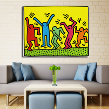 Keith Haring Original Pop ART Giclee Print On Canvas Cartoon Classical Oil Painting Drawing Art Spray Abstract Wall Painting