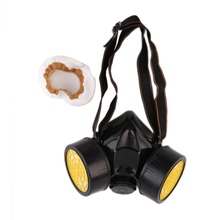 High-quality Emergency Survival Safety Respiratory Gas Mask filter Anti Dust Paint smoke Respirator Mask Protection Filter Black(China)