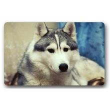 Custom Machine-Washable Cute Husky Baby Door Mat Indoor/Outdoor Decor 40x60cm Rug Doormat Room Decoration