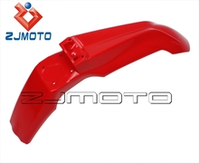 ZJMOTO Hot sale Universal Red Motorcycle Front Mudguard Front Fender Supermoto EVO For Off Road Dirt Bike Motocross Motorcycle(China)