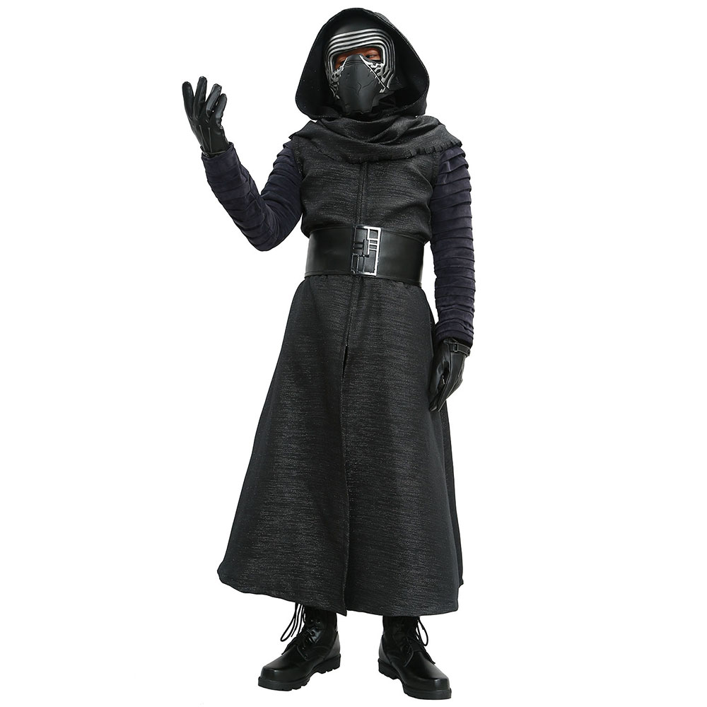 Kylo Ren Costumes V1 Version Suit Star Wars The Force Awakens Villain Cosplay Outfits Men Cool Black Costume Full Sets
