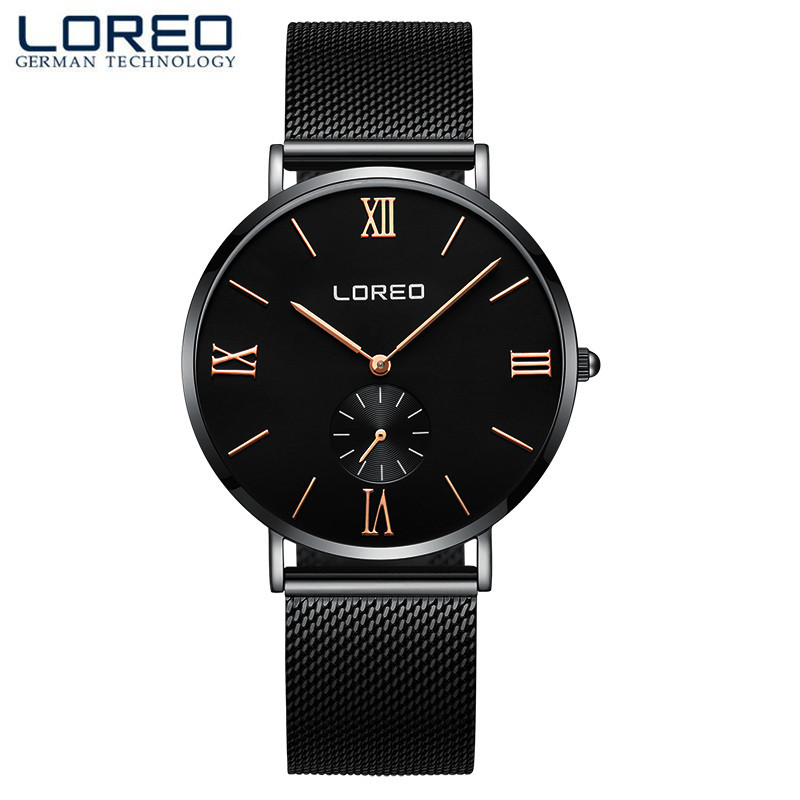 LOREO Luxury Watch Brand MenS Watches Stainless Steel Band Quartz Wristwatch Fashion Casual Watches Relogio Masculino M21<br>