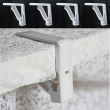 New Plastic 4Pcs Table Cover Cloth Stainless Steel Tablecloth Clip Clamp Holder For Party Wedding Prom