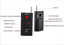 wireless Signal Bug RF Detector Hidden Camera Laser Lens GSM Device Finder XB-68(China)