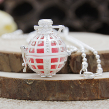 Angel Locket Necklace Cage Essential Oil Fragrance Aromatherapy Openwork Oil Diffuser Chime Bola Pendant  HBS0085/8