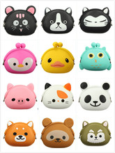 VSEN 13 colors Lovely Girls Wallet Candy Color Kawaii Cute Cartoon Animal Multicolor Silicone Jelly Coin Bag Purse Kids Gift