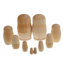 Let's Make wooden montessori toy children handmade eco friendly Educational natural wooden toy quiet Matryoshka dolls toy dolls