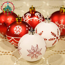 Christmas balls Theme Pack Ornaments for Tree Decor Ball Bauble Hanging Xmas Ornament Home Decor DIY Balls Craft Ornament(China)
