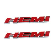 2pcs Red  HEMI Emblem Decal Badge Sticker Dod ge Charger Ram 1500 Challenger  Grand Cherokee