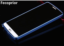 Fecoprior For LG G3 Thin Luxury Aluminum Metal Bumper Frame G3 Case Cases Phone Back cover(China)