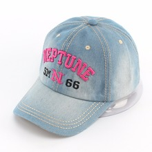 Women Letter Embroidery Denim Baseball Caps Men Casual Jeans Hat Casual Cotton Cap Gorras Femininos