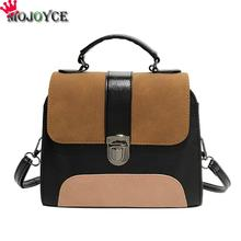 Buy MOJOYCE Casual Women PU Leather Sling Handbag Girls Crossbody Bag Patchwork Color Messenger Shoulder Bag Female Elegant Handbag for $8.68 in AliExpress store