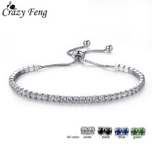 Buy Crazy Feng 2017 Charms Austrian Crystal Bead Bracelet Bangle Women Friendship Silver Color Ball Pendant Adjustable Bracelet for $1.15 in AliExpress store