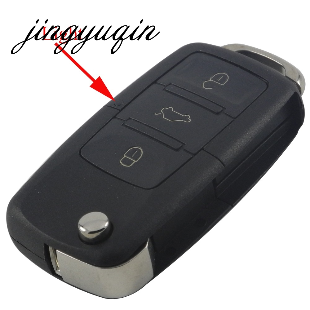 jingyuqin Folding Car Remote Flip Key Shell Case Fob For Volkswagen VW Jetta Golf Passat Beetle Polo Bora 3 Buttons Key Case(China)