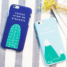 Cute Cartoon Hard Case For iPhone 5S Case For iphone 5 6 6S Plus Lovely Fruits Peach Ananas Back Cover Plants Cactus Phone Cases