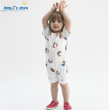 PPY-222 newborn baby clothes White ball uniform summer baby jumpsuit With short sleeve one-piece jumpsuit baby boy girl clothes