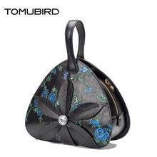 TOMUBIRD 2017 New women genuine leather bag fashion Flower embossing real leather art bag women handbags tote bag