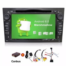 Android 6.0 Quad Core 2 Din Car DVD Player For Opel Astra Vectra Antara Zafira Corsa GPS Navigation Radio Audio Video(China)