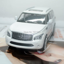 Brand New YJ 1/32 Scale Japan Infiniti QX56 SUV Diecast Metal Pull Back Flashing Musical Car Model Toy For Gift/Collection