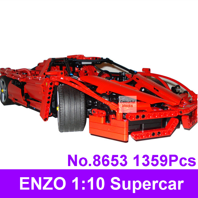 New 9186 ENZO 1:10 Supercar Car Model Building Blocks Technic Creative Toys For Children Educational Construction DIY Brick 8653<br>