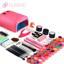 BURANO NEW 2017 professional gel polish 36 Colors UV Gel nail tools set nail kit manicure set 009 pink(China)