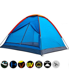 barraca de camping equipment backpacking tent 3-4 person Waterproof Fishing Hiking Tents carpas Camping Large Ultralight Tent
