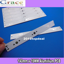 10pcs 140mm x 16MM Aluminium PCB Circuit Board for 3 x 1w,3w,5w LED in Series(China)