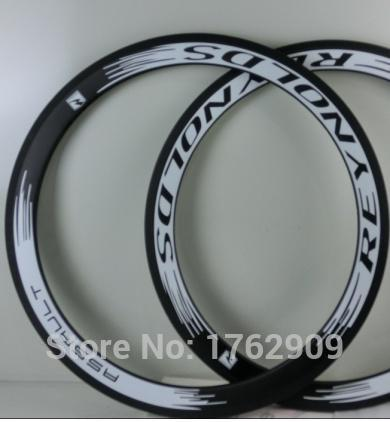 2Pcs Newest white 700C 50mm clincher rims Road bicycle 3K UD 12K full carbon fibre bike wheels rims 23 25mm width Free shipping<br><br>Aliexpress