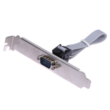 For Motherboard 9 Pin Female to RS232 DB9 Pin Com Port Ribbon Serial Cable Connector Bracket with cable(China)