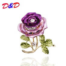 D&D New Brooch Ruili Magazine Korean Clothing Manufacturers Supply Brooch Stereo Rose Leaves Top Fashion Plant
