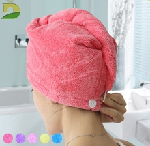 Quick Dry Women Hair Towel Bathroom Super Absorbent Quick-drying Microfiber Soft Bath Towel Cap Bigger 25x65cm(China)