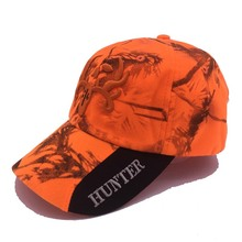 New Outdoor camouflage Cap Fluorescent Orang Hunting Hat Blaze Orange Camo Cap With 3D logo Baseball Hat