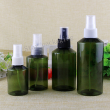 50pcs 50ml/100ml/150ml/200ml wholesale High quality Perfume spray deep green bottle Travel bottle Empty cosmetics packing bottle