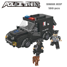 Police station SWAT Armored car jeep Military Series 3D Model building blocks compatible with le city Boy Toy hobbies Gift
