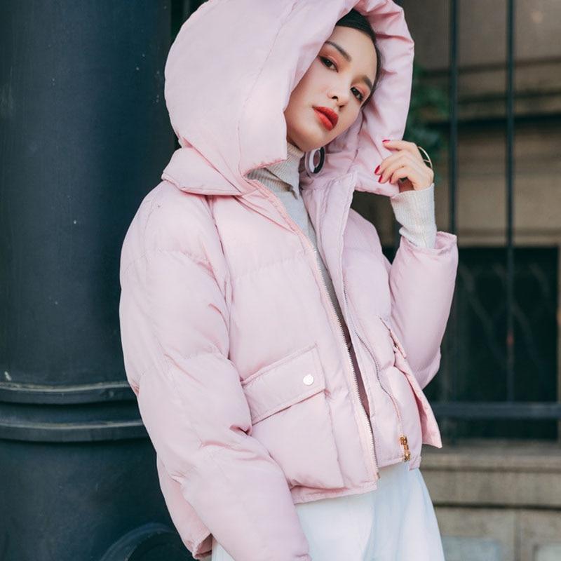 Nellbang Hoody cotton coat women winter short jacket Pocket thick warm wide waisted casual 2017 new fashionÎäåæäà è àêñåññóàðû<br><br>