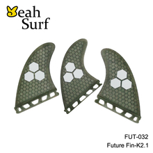 Quilhas Honeycomb Fibreglass Surf Future Fin K2.1/G5 Surfboard Fins Future Fibreglass Fins Surf Gray Orange Green Blue